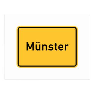 Carte Postale Panneau routier de Munster, Allemagne