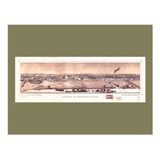 Carte Postale Panorama de Minneapolis, Minnesota (1873)