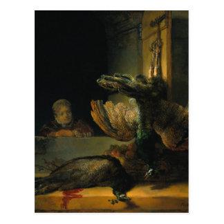 Carte Postale Paons morts par Rembrandt
