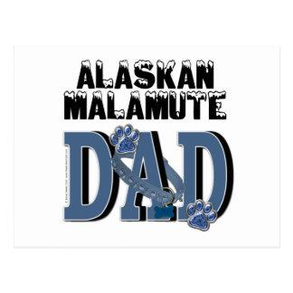 Carte Postale PAPA de Malamute d'Alaska