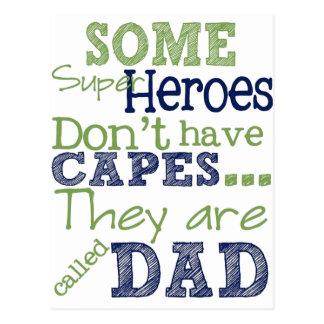 Carte Postale Papa de super héros