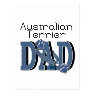 Carte Postale PAPA de Terrier australien