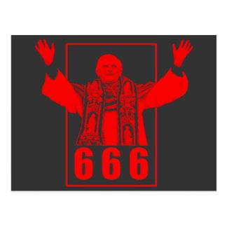 Carte Postale Pape 666