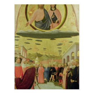 Carte Postale Pape Liberius Founding la basilique