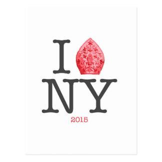 CARTE POSTALE PAPE NYC 2015