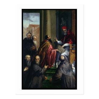 Carte Postale Pape Paul IV remettant un statut
