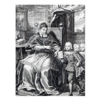 Carte Postale Pape Urban VIII avec ses neveux