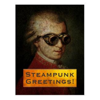 Carte Postale Papeterie faite sur commande de Steampunk Mozart