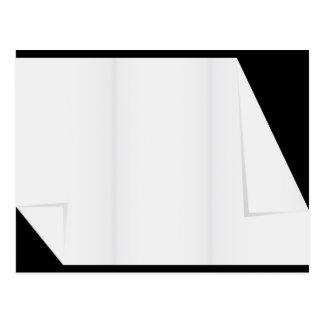 Carte Postale Papier blanc avec les coins pliés