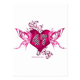 Carte Postale papillon de emballage du nombre 47