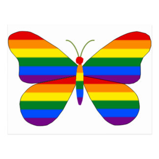 Carte Postale Papillon de gay pride