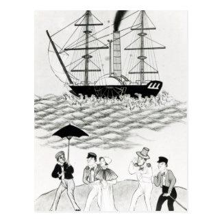 Carte Postale Paquebot anglais au canton, 1840