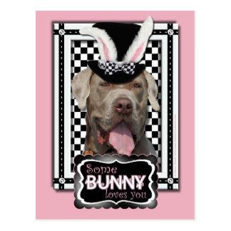 Carte Postale Pâques - un certain lapin vous aime - mastiff