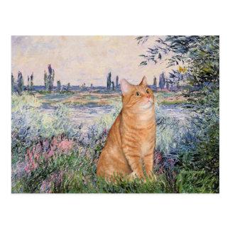 Carte Postale Par la Seine - chat SH tigré orange 46