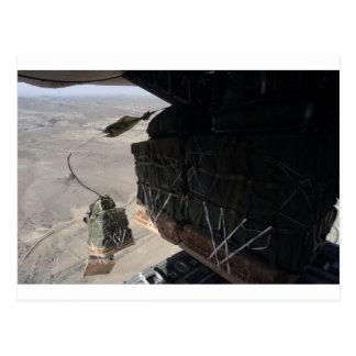 CARTE POSTALE PARACHUTAGE AFGHANISTAN DU COMBAT C-130