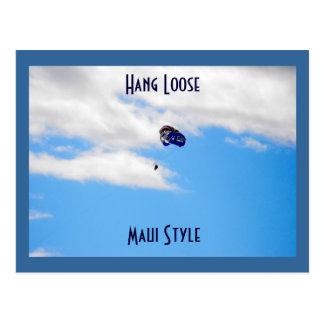 Carte Postale Parachute ascensionnel dans Lahaina, Maui Hawaï
