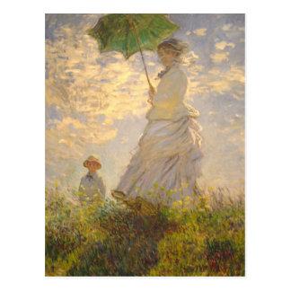 Carte Postale Parapluie de //de promenade de La de Claude Monet