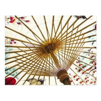 Carte Postale parapluie de papier asiatique