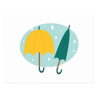 Carte Postale Parapluies dans l'ovale