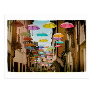 Carte Postale Parapluies de flottement