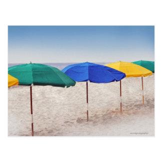 Carte Postale parapluies de plage