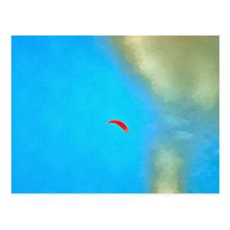 Carte Postale Parasailig haut dans le ciel