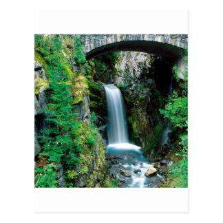 Carte Postale Parc de Christine le mont Rainier de cascade