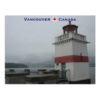 Carte Postale Parc de Stanley de phare Vancouver Canada