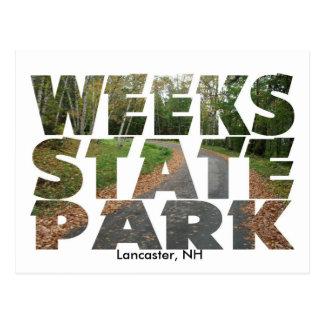 Carte Postale Parc d'état de semaines, Lancaster, NH