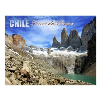 Carte Postale Parc national de Torres del Paine, Chili