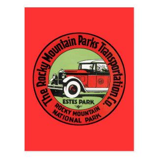 Carte Postale Parc vintage Amérique du Nord de montagne rocheuse