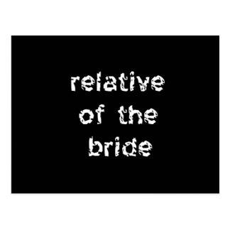 Carte Postale Parent de la jeune mariée