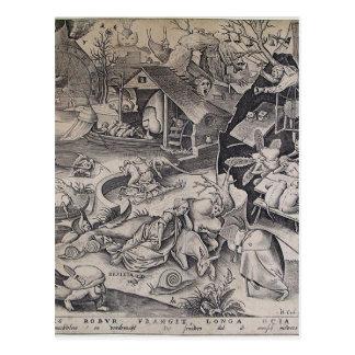Carte Postale Paresse par Pieter Bruegel l'aîné