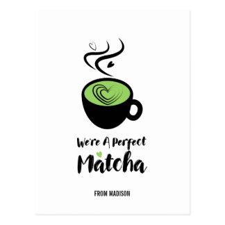 Carte postale parfaite d'amour de Matcha Valentine