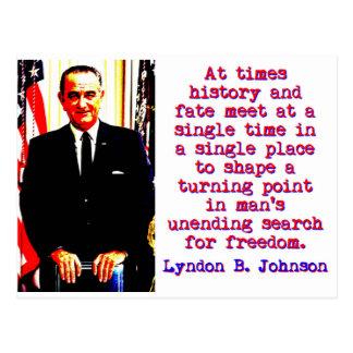 Carte Postale Parfois histoire et destin - Lyndon Johnson