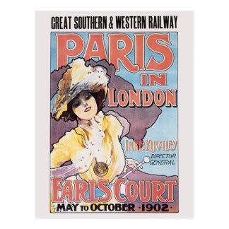 Carte Postale Paris à Londres