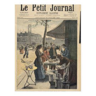 Carte Postale Paris à six heures pendant le matin