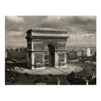Carte Postale Paris Arc de Triomphe vintage 1943