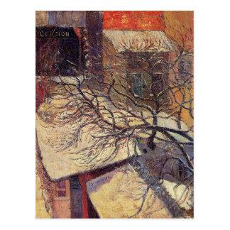 Carte Postale Paris dans la neige par Paul Gauguin