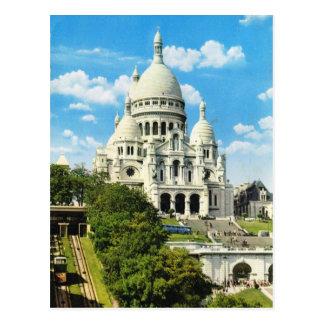 Carte Postale Paris vintage, Paris Sacre Coeur, Montmatre