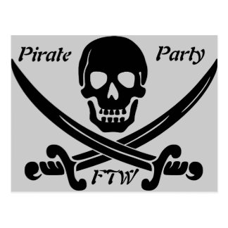 Carte Postale Partie de pirate - FTW