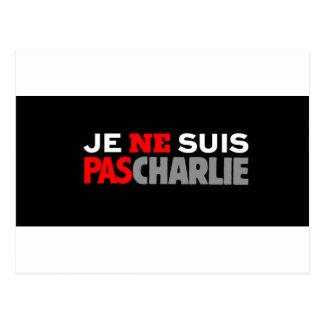 Carte Postale Pas Charlie de Ne Suis de Je
