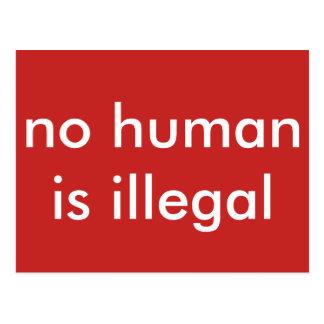 Carte Postale pas humain est illégal