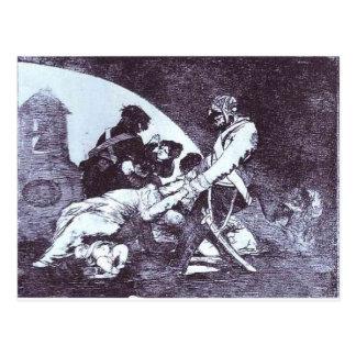 Carte Postale Pas pour ceux par Francisco Goya