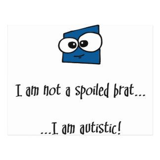 Carte Postale Pas un gosse corrompu - conception d'autisme