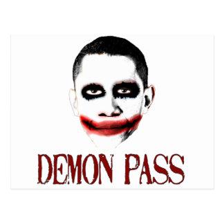 Carte Postale Passage de démon - anti ObamaCare