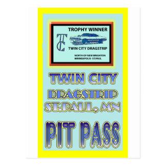Carte Postale Passage de mine de Dragstrip de ville jumelle