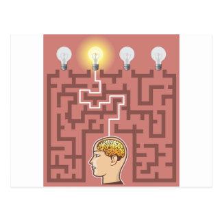 Carte Postale Passage de séance de réflexion de créativité par