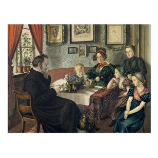 Carte Postale Pasteur Johann Wilhelm Rautenberg et sien
