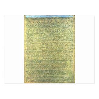 Carte Postale Pastoral (rythmes) par Paul Klee